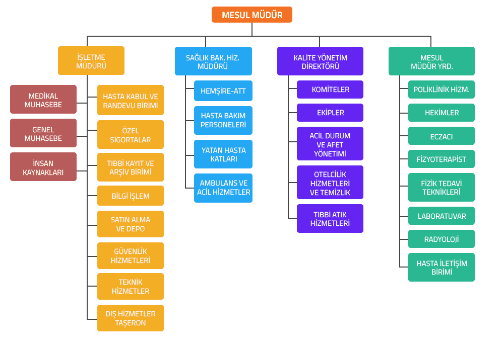 Hastane Organizasyon Şeması